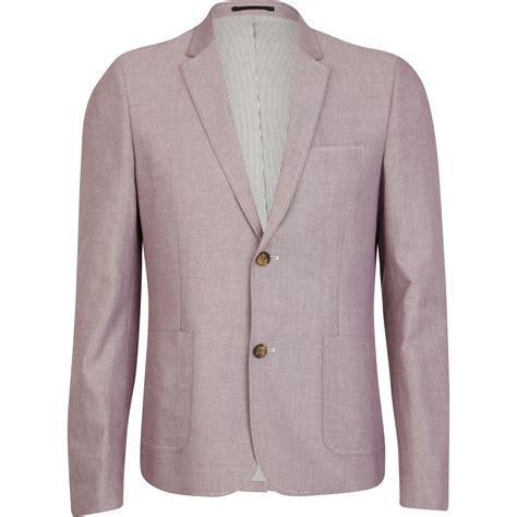 light pink blazer mens river island light pink double button oxford blazer in