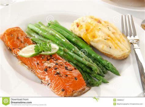elegant dinner elegant salmon dinner stock image image of salmon meal