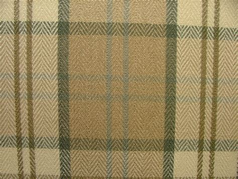 wool upholstery fabric beige grey cream quot stirling quot wool effect thick tartan check