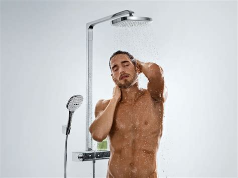 Hansgrohe Selecta Shower by Wall Mounted Shower Panel Raindance Select E 300 Showerpipe By Hansgrohe Design Design