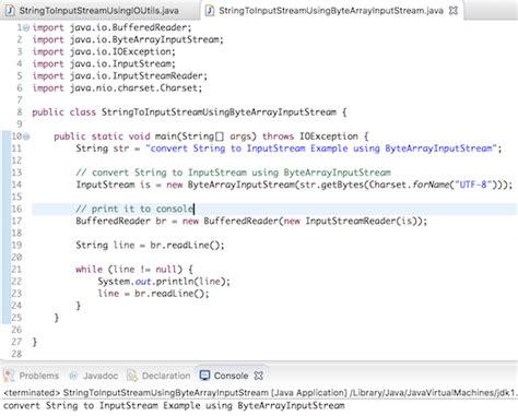 io layout interview questions java string to inputstream journaldev