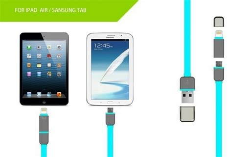 Kabel Lightning Port And Micro Usb Untu Android Ios Murah usb 2 in 1 duo magic cable lightning and micro usb cable