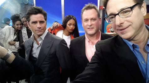 new full house cast full house cast reunites for new commercial gets photo bombed by rihanna at gma