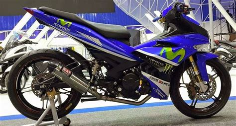 Knalpot Yamaha Jupiter Mx 135 Yoshimura R77 Sigle Exit modifikasi mx king ala moto gp tim movistar yamaha