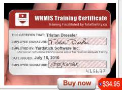 Whmis Certificate Template by Whmis