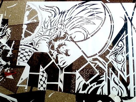 acdc stencil  wator  behance