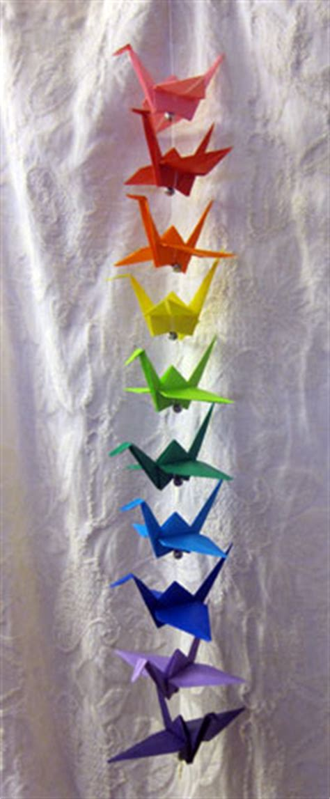 Origami Crane String - 2 foot string of origami cranes