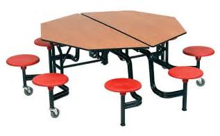 amtab octagonal mobile cafeteria tables school office