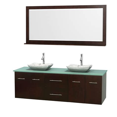 the sink mirror 72 quot centra bathroom vanity in espresso with sink