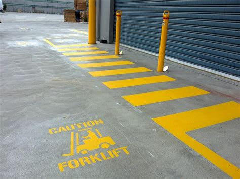 Loading Dock Floor Plan by Industrial Safety Lines Line Marking Melbourne In Melbourne Vic Construction Services