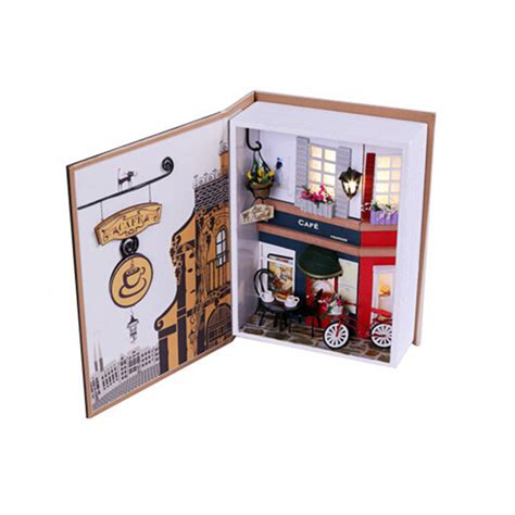 doll house accessories creative book model wood doll house prague s summer mini diy miniature dollhouse accessories toy