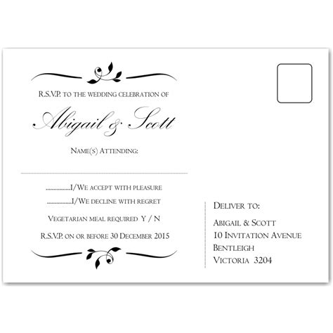Rsvp Postcard Template Free inspirational free wedding planner templates wedding
