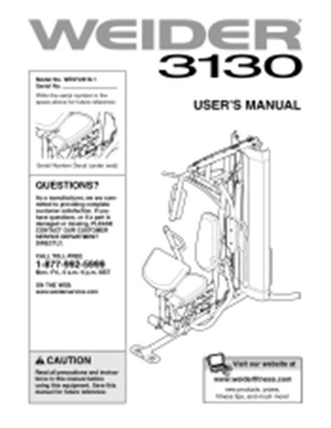 weider 3130 manual
