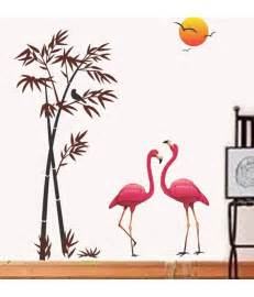 Home Decor Items In India stickerskart wall stickers pink flamingos amp bamboo at