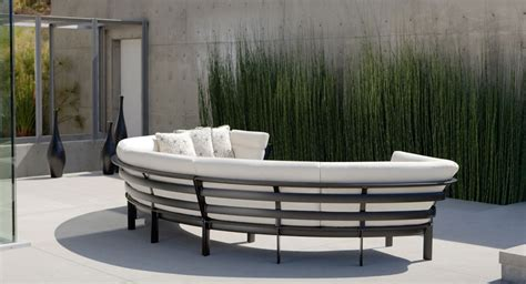 outdoor furniture brown patio things parkway curvilinear by brown provides a patio modular seating option