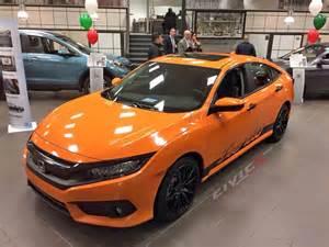 Honda Of Orange Modified 2016 Honda Civic In Orange With Turbo Script