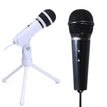 New 35mm Microphone Mic Pc Laptop Chat Record Tripod Stainless Metal 3 5mm condenser microphone mic recording stand for pc laptop desktop yy skype sale banggood