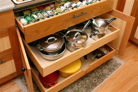 kitchen cooktop with pot and pan drawers pictures