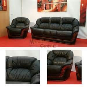ensemble salon canap 233 convertible 3 places fauteuil cuir