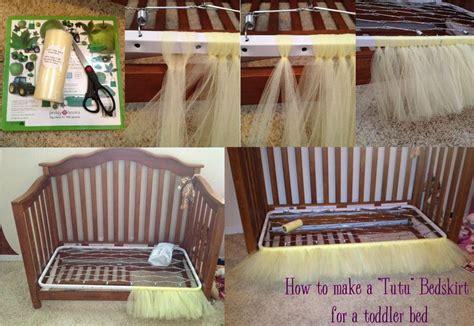 Diy Crib Bed Skirt Diy Tutu For Baby Diy Tutu Bedskirt For A Toddler Bed Easy Create Toddler Bed