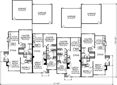 multi unit floor plans multi unit plans ideas house plans 50142