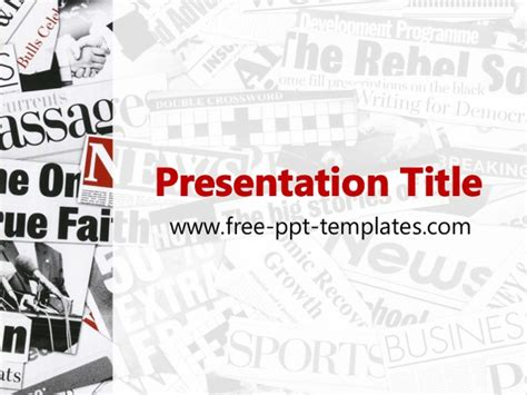 Newspaper Ppt Template Powerpoint Newspaper Templates