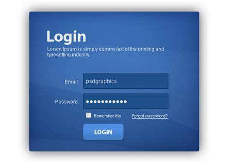 Login Template 20 useful login page template free psd files the