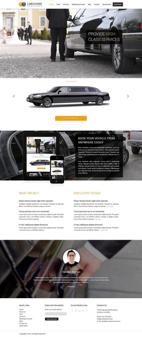 Limo Websites Beautiful Responsive Fast From 1 399 Limousine Web Template