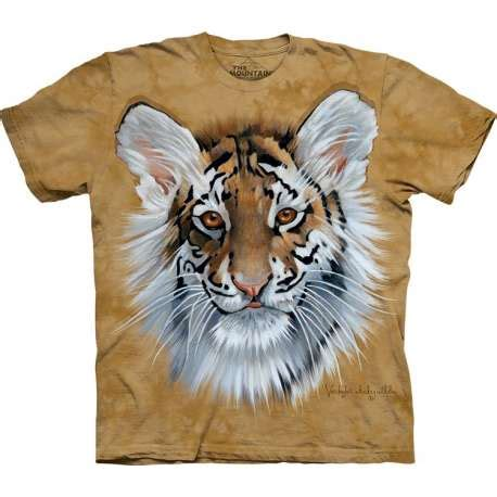 713252 The Mountain Sweater White Tiger Crew Neck tiger cub t shirt clothingmonster