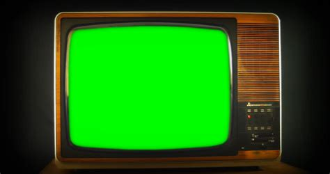 green tv 1970s tv set with green screen background 76 years of television history came to an end at