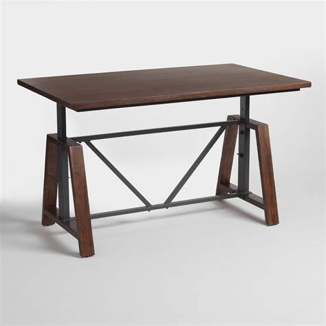 wood braylen adjustable height work table world market