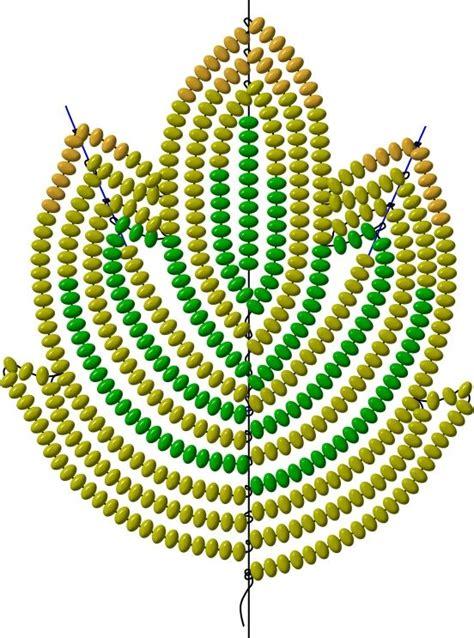 beaded flower patterns мастер классы и схемы плетения листьев из бисера корица