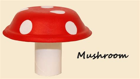 Small House Decoration paper plate mushroom craft youtube