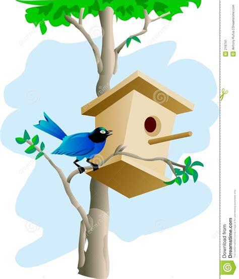 Nice House Plans bird and tree house stock image image 219741