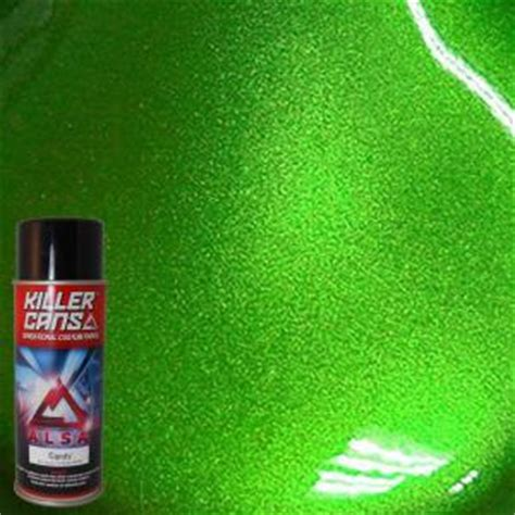 alsa refinish 12 oz lime green killer cans spray paint kc lg the home depot