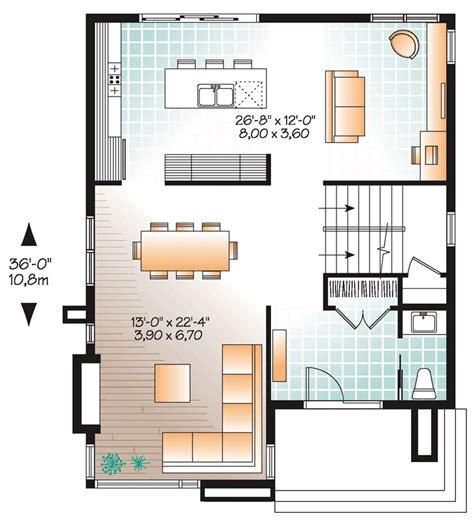 plano de casa de un piso 005jpg ideas para casas en terrenos peque 241 os construye hogar