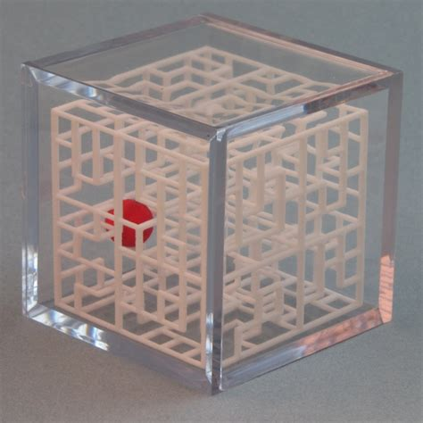 Handmade Puzzle - 3d maze puzzle escher s playground rolling