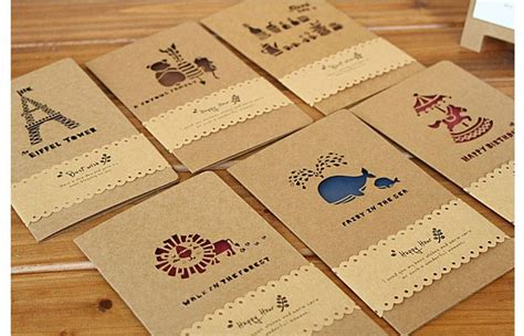 Creative Gift Card - creative krafts greeting cards 12pcs lot wedding invite birthday greeting cards with