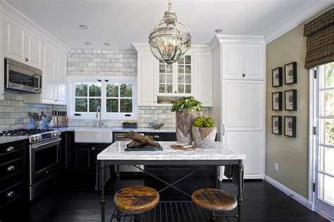 Crate and Barrel French Kitchen Island with Industrial