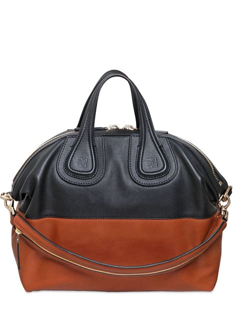 Givenchy Two Tone Purse by Lyst Givenchy Medium Nightingale Two Tone Leather Bag In