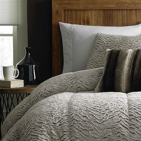 Fur Bed Comforter by Cannon Fur Comforter Brown Sears