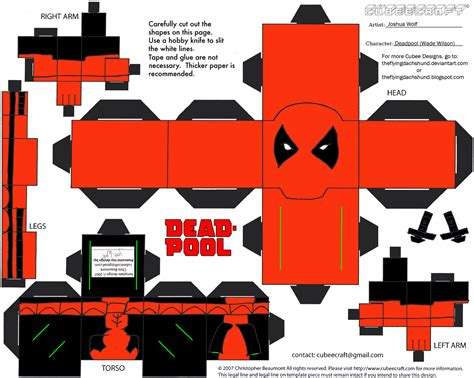 Marvel Papercraft - marvel10 deadpool cubee by theflyingdachshund on deviantart