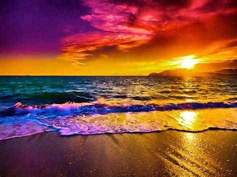 colorful beaches colorful beautiful summertime