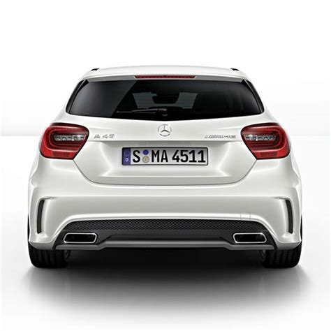 mercedes a45 amg exhaust genuine mercedes amg exhaust tips a class w176