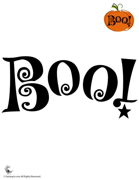 boo template pumpkin boo pumpkin stencil woo jr activities