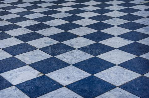 blue and white checkered marble floor stock photo image