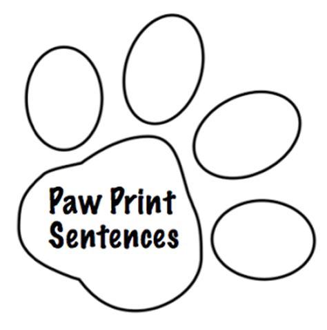 paw print template paw print sentences freebie
