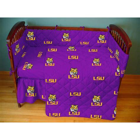 Lsu Crib Bedding by Lsu Louisiana State Tigers Crib Bed In A Bag Purple