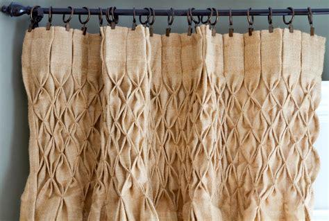 smocked burlap curtains for sale thistlekeeping thistlewood farm