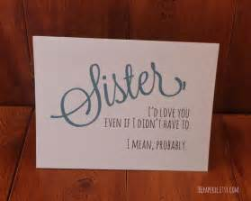 funny sister card sister birthday card funny card